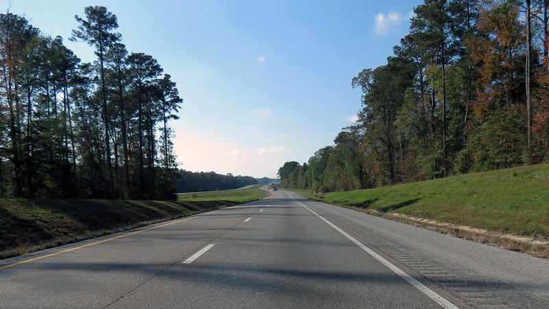 Westbound I-20 near Chunky, MS.