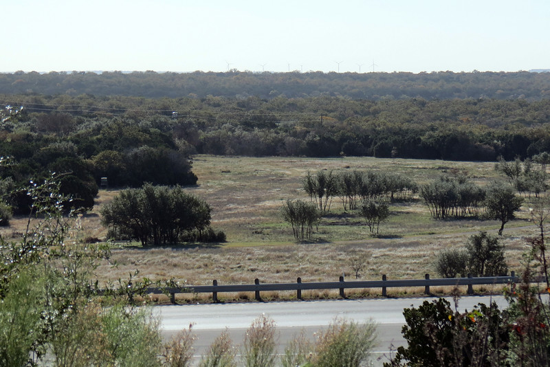 Looking over Interstate 20 from the picnic area.