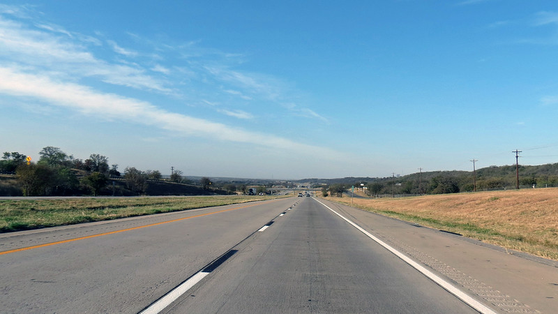 Westbound I-20, mile 391 near Millsap, TX.