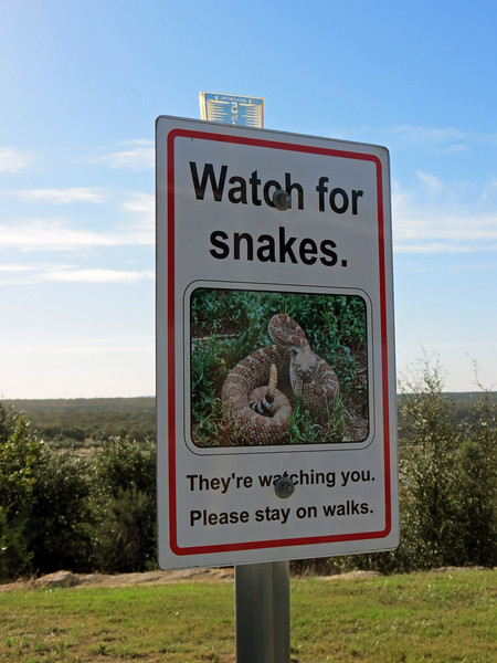 """A warning greeted me as I started to check the place out.  """"Watch for snakes"""" seems like a good idea."""