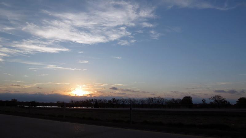 Sunrise, I-20 mile 493 near Terrell, TX.