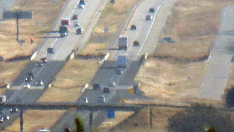 Zooming in on I-20 from the westbound Eastland County Rest Area.  The picture becomes unstable at full zoom, (35x optical plus 4x digital).  But you get the idea.