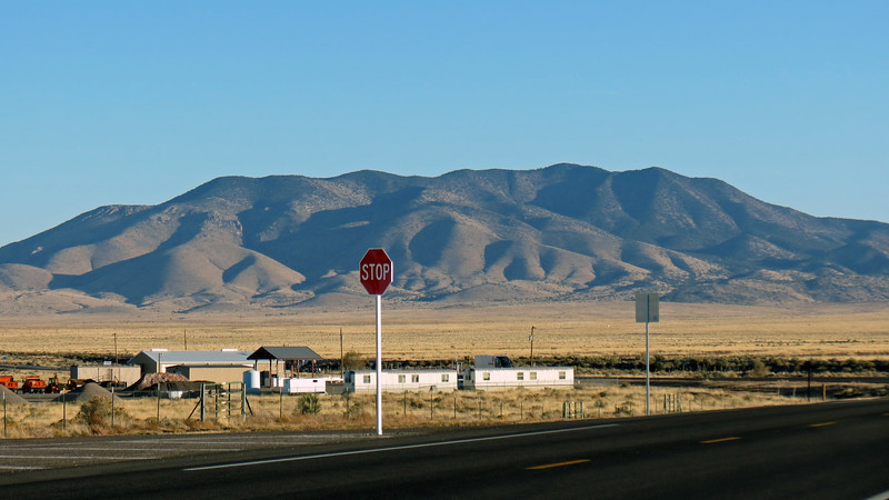 I was able to get a better shot of the mountains I was approaching once I passed through Carrizozo, NM.  Lone Mountain (8,145 feet), sat off to my left.
