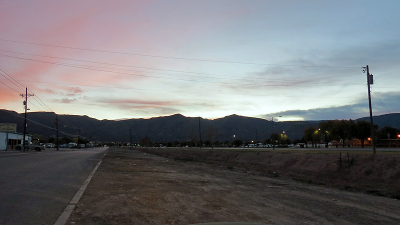 I didn't make it more than a couple of miles from my hotel in Alamogordo before I stopped to take pictures of the mountains east of the city.  I found an area along East Canal Street where I could pull over.