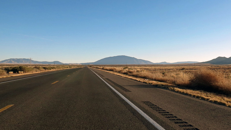 L - R:  Lone Mountain (8,145 feet), Carrizo Peak (9,620 feet), and the Vera Cruz Mountains.