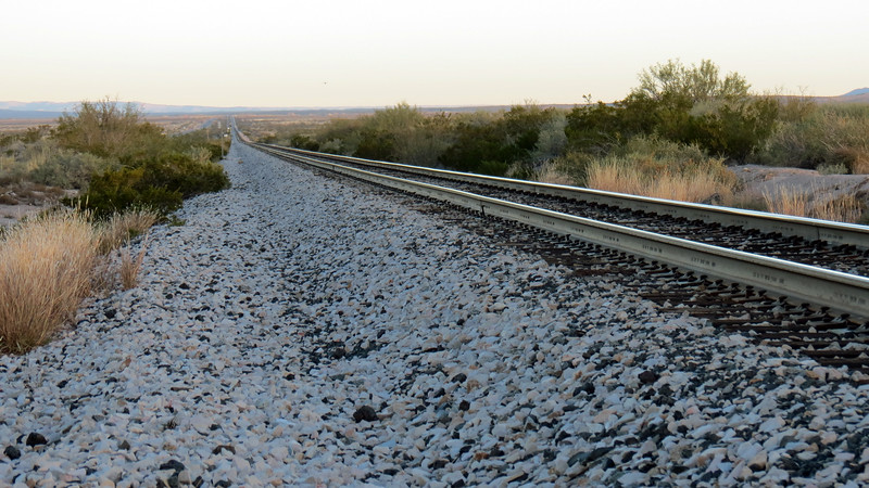 Railroad tracks next to US Route 54.