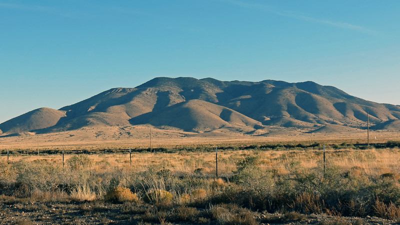 From here, I was able to get some good shots of the nearby mountains.  Above is Lone Mountain (8,145 feet).