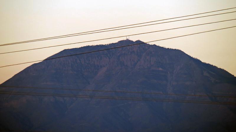 Zooming in on Salinas Peak (8,965 feet).