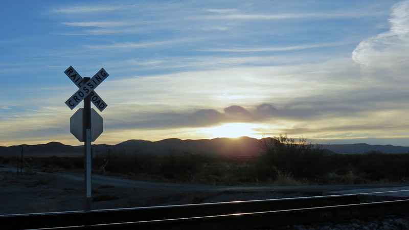 Sunrise over the Coyote Hills, north of Tularosa, NM.