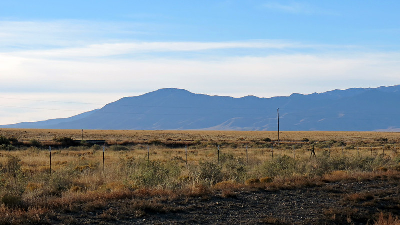 Looking southeast toward the Sacramento Mountains, beside which I have been traveling since I began this day's journey.