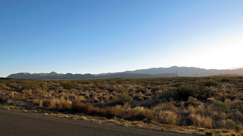 I hit the road again passing by the Godfrey Hills outside of Oscuro, NM.