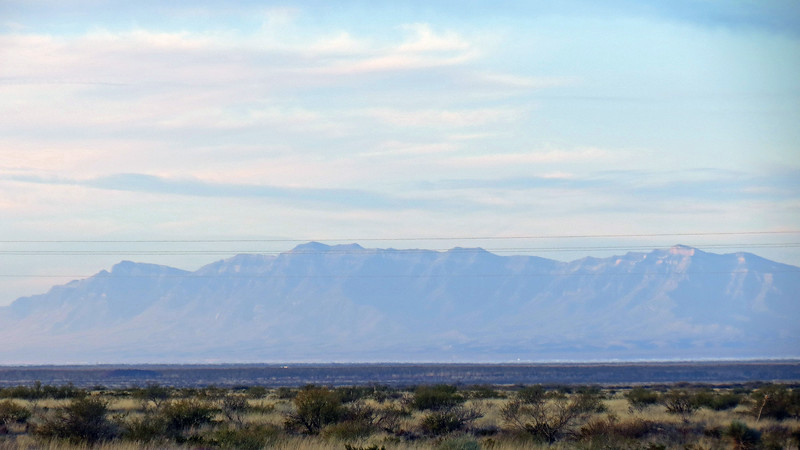 Looking west toward the San Andres Mountains.