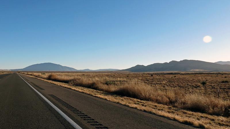 (L) Carrizo Peak (9,620 feet), (R) Vera Cruz Mountains.