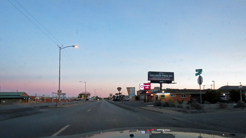 I got back onto an empty Business Rt 54 through Alamogordo and headed east, (northeast actually).
