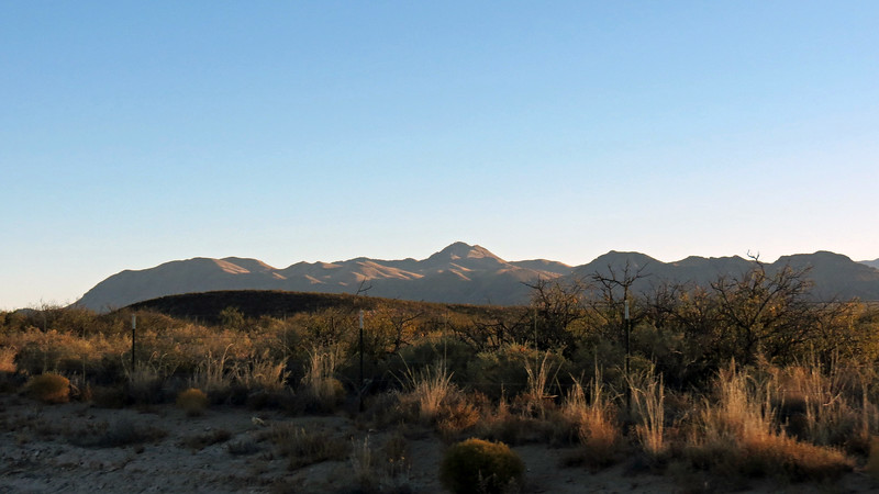 The Godfrey Hills outside of Oscuro, NM.  The peaks of this mountain have names such as Godfrey Peak, Jackass Mountain, and Rose Peak, although I'm not sure which one is which.