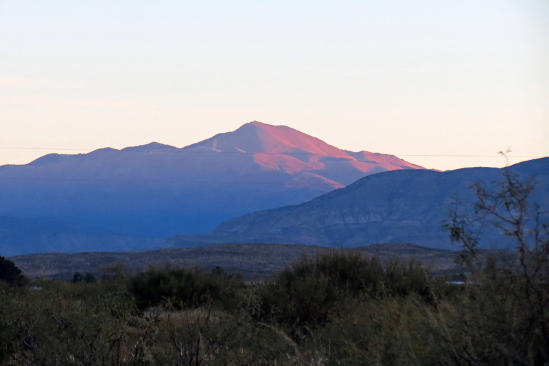 The stunning red color of sunrise over Sierra Blanca Peak (11,973 feet), made for a great picture.