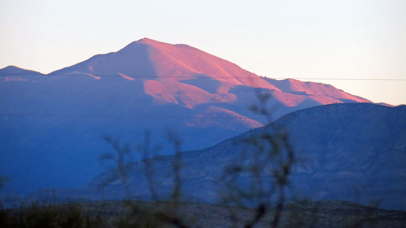 Sunrise over Sierra Blanca Peak (11,973 feet), Tularosa, NM.