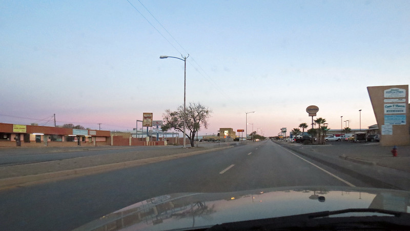 Business Route Rt 54 through Alamogordo, NM which was empty on this early Sunday morning.