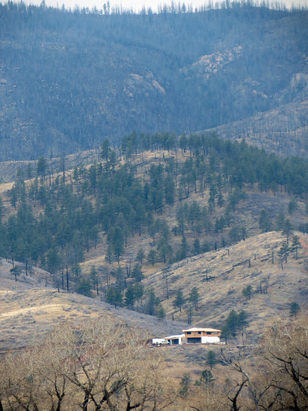 The photo above shows a great location for a house !  The camera has a hard time capturing the sheer scale of what your eyes are seeing in person.  This is the best I could do for trying to convey a sense of the size of the mountains.  That's quite a back yard !