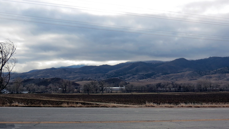 Looking southwest near the entrance to Poudre Canyon.