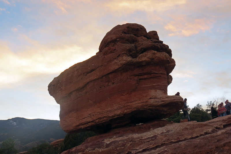 The result is a rock that appears to be balanced on top of another rock.  And if you look closely, a little bit of daylight can be seen between the two.