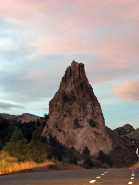 By this time, we were running out of daylight, thus putting an end to my picture-taking adventures for today.  We decided to take a drive through the park before heading back to Greeley.  Following Garden Drive from the Balanced Rock took us to the Juniper Way Loop which circled around the back side of Grey Rock that I photographed earlier.  My Canon SX40HS is a great camera as a whole, but is somewhat limited in low-light conditions which causes the auto-focus to not cooperate at times, with this being one of those times.