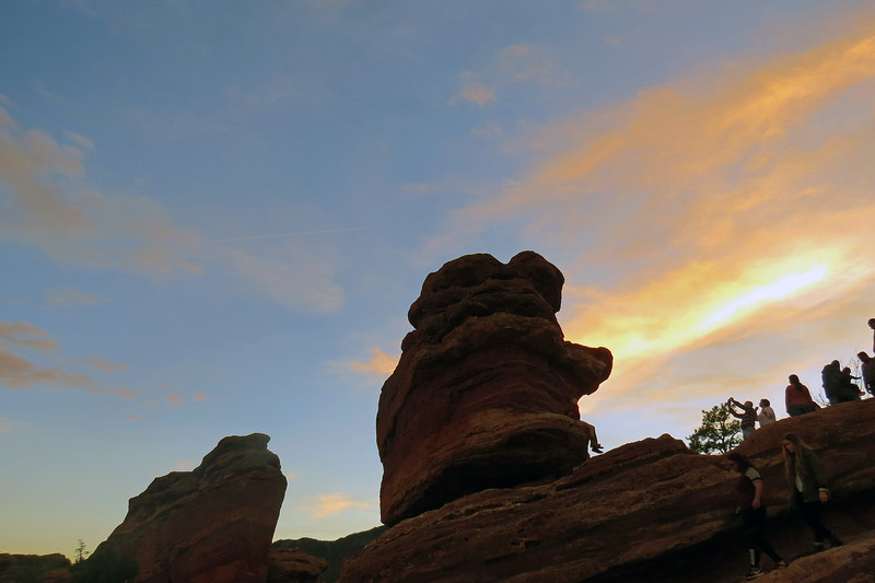 Steamboat Rock (L) and Balanced Rock (R).