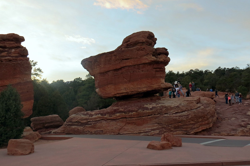 "One of the more famous rock formations in the park is ""Balanced Rock,"" which gets its name because of the way the 700-ton rock appears to be ""balancing"" on top of another rock."