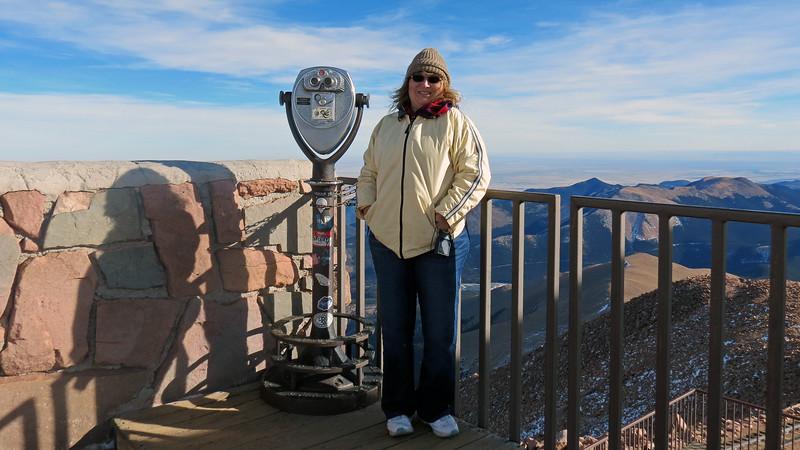 Pikes Peak Summit observation deck.