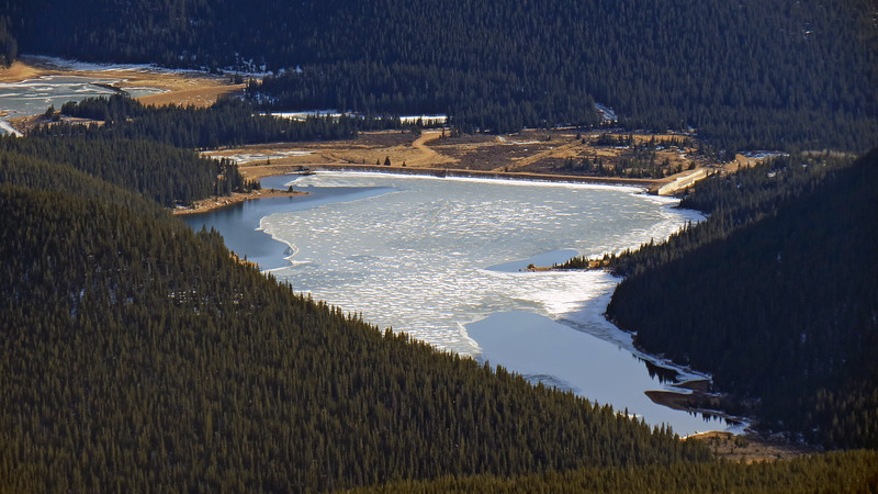 Zooming in on the Mason Reservoir with the McReynolds Reservoir in the background on the left side of the photo.