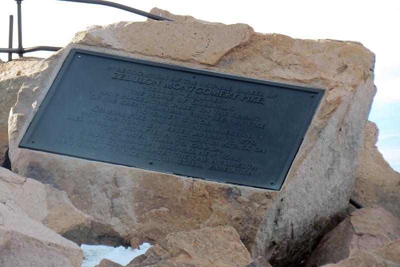 Zebulon Pike monument.