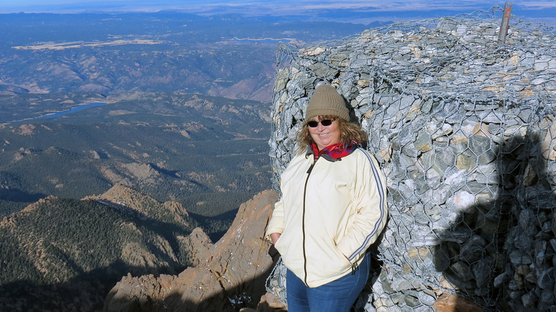 Pikes Peak Summit at the end of the Cog Railway.