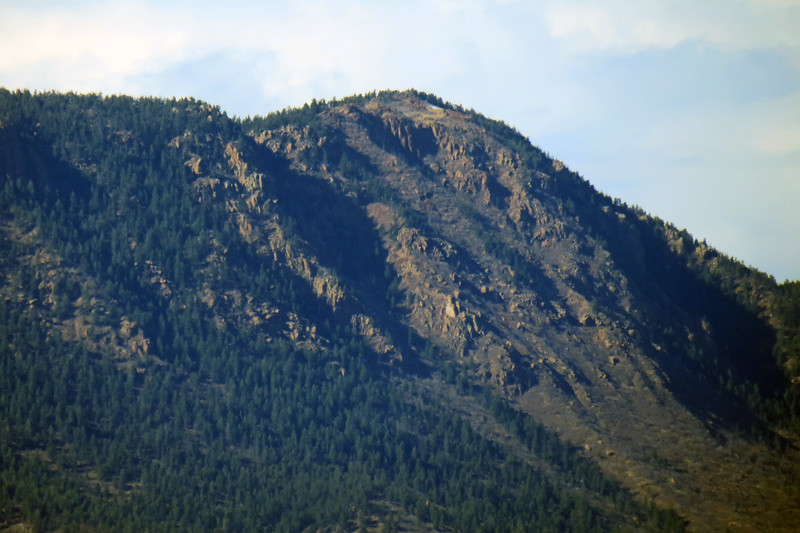 Zooming in on Mount Herman (9,063 feet).