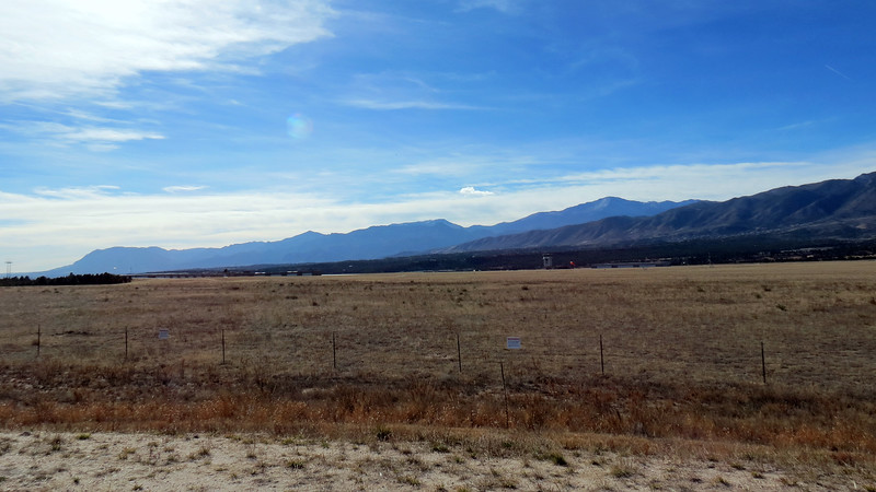 I took three pics looking west at the Front Range with the intent of stitching them together.  This is picture 1 of 3.