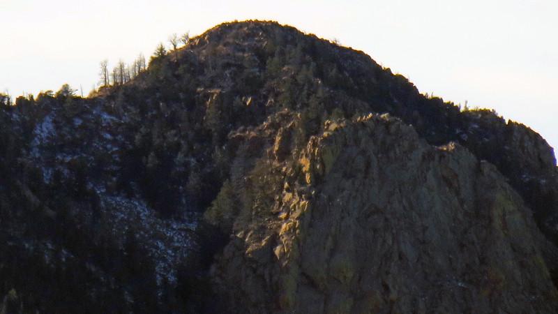Zooming in on Blodgett Peak (9,423 feet).