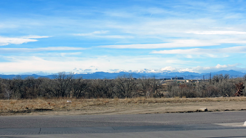 I took a few pics of the Front Range during a fuel stop south of Denver in the town of Parker, Colorado.  I did what I usually do and took a wide shot first to provide a general perspective of what I was looking at.