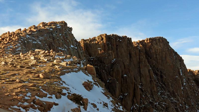 Cliffs around the Bottomless Pit.