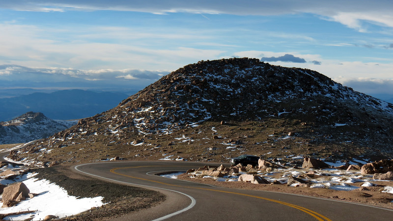 A curve in the highway put Little Pikes Peak directly in front of us where we were heading.