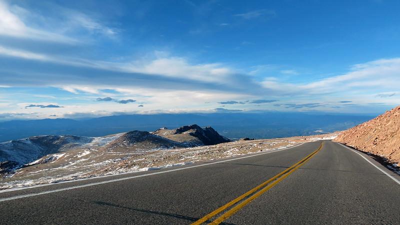 Heading toward Boulder Park and Little Pikes Peak (13,363 feet).