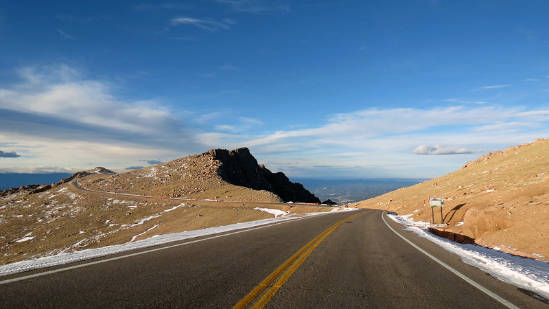We circled around Little Pikes Peak on our way to mile 17 and the Bottomless Pit.