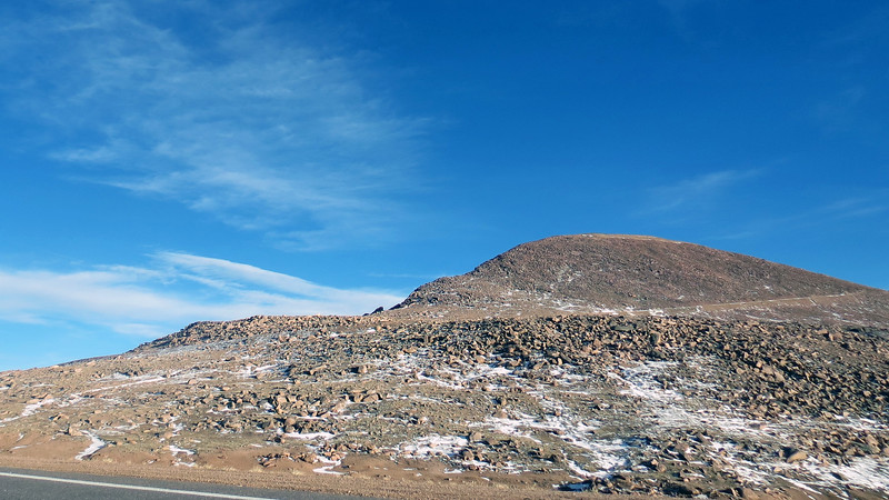 The highway where we had just come from could be seen looking back toward the summit.
