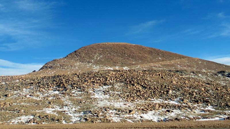 Looking back toward the Pikes Peak Summit.