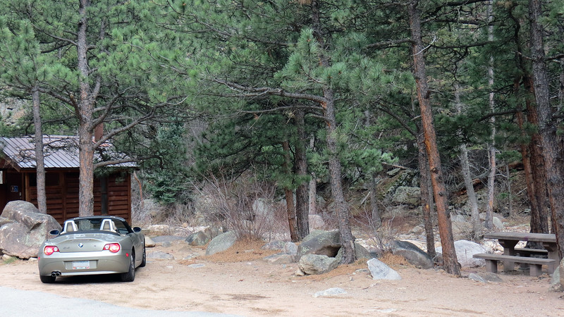 We stopped at the South St. Vrain Picnic Area just beyond Berry Ridge.  This picnic area offers great access to the South St. Vrain Creek.