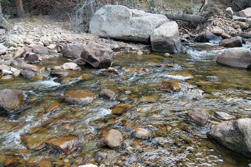 And just like the Poudre River, the water of the South St. Vrain Creek is crystal clear.