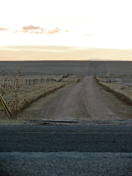 The photo above looks east on County Road 18.