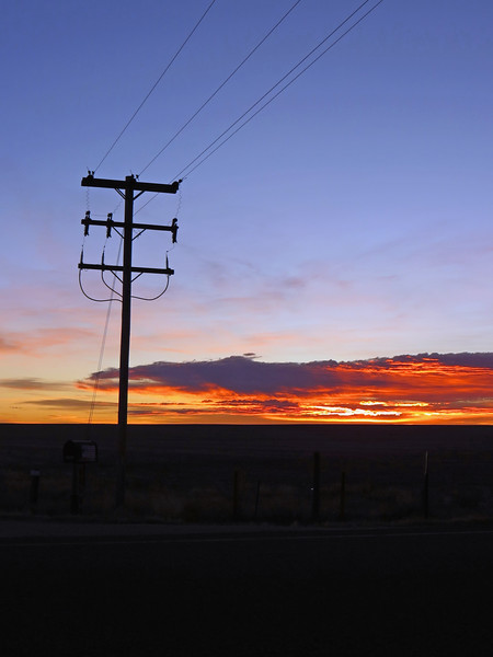 Sunrise panorama from Colorado Route 71 and County Road 19.  Picture 1 of 3