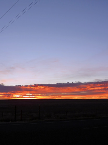 Sunrise panorama from Colorado Route 71 and County Road 19.  Picture 2 of 3