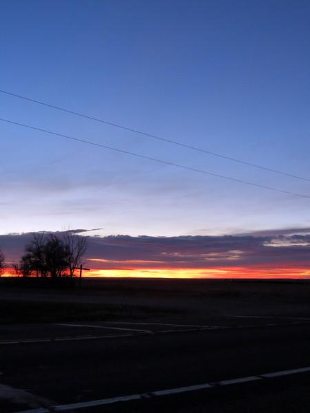 Sunrise panorama picture 2 of 3.