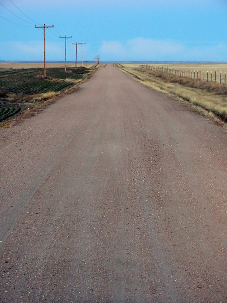 And I had that exact same view on either side of me, minus the pavement.  The photo above looks west on County Road 18.