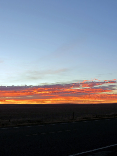 Sunrise panorama from Colorado Route 71 and County Road 19.  Picture 3 of 3